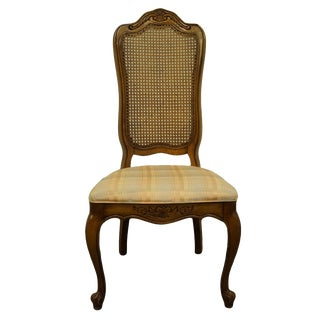 Late 20th Century Hibriten Furniture Lenoir French Regency Cane Back Dining Side Chair For Sale