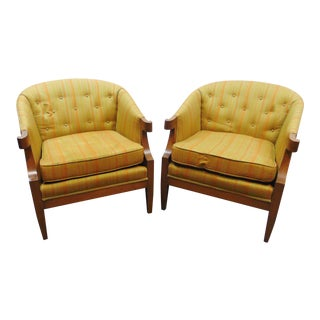 Mid Century Modern Italian Style Club Chairs - a Pair For Sale