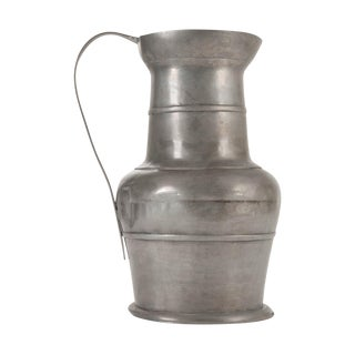 Large 19th Century Scottish Pewter Ewer For Sale