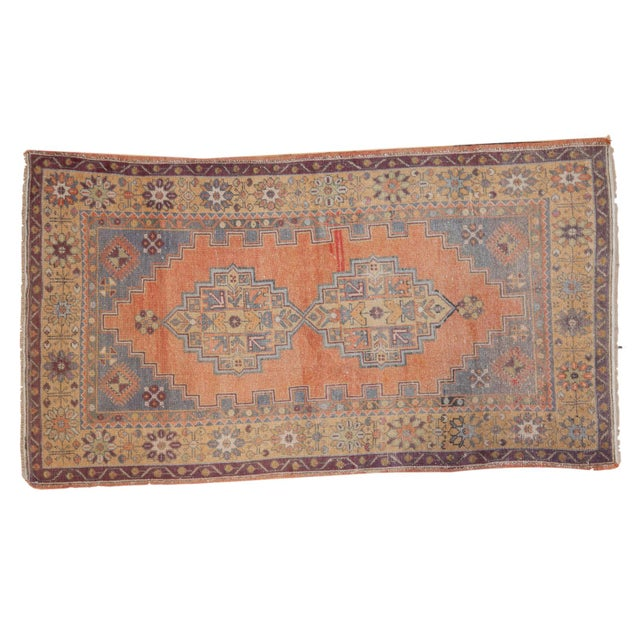 "Vintage Distressed Oushak Rug - 3'9"" x 6'6"" - Image 11 of 11"