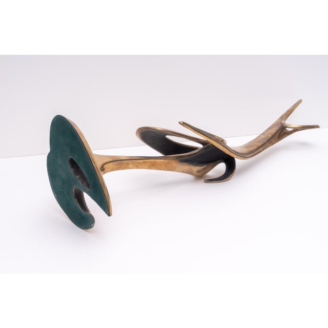 Abstract Bronze Stylized Cranes Sculpture by Robert Bennet For Sale - Image 4 of 12