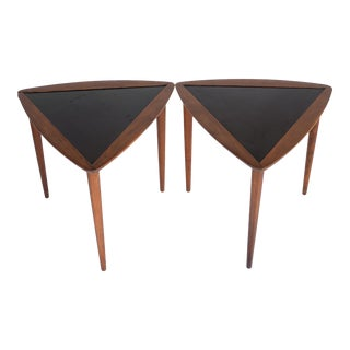 Mid Century Arthur Umanoff Stacking Triangle Side Tables - a Pair For Sale