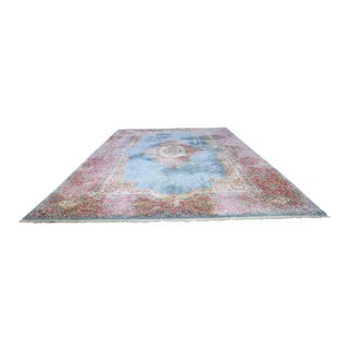 Antique Persian Kerman Hand Knotted Rug - 11′7″ × 20′11″ For Sale