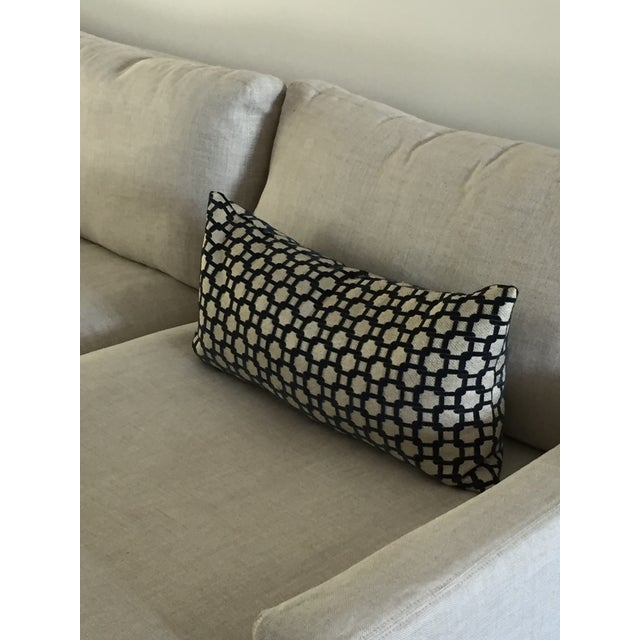 Mod Navy & Tan Textured Pillow - Image 3 of 4