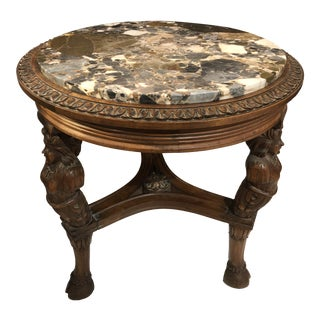 Late 19th Century Marble Top French Drinks Table For Sale