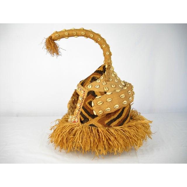 Folk Art Kuba Mukenga Moshambwooy African Helmet For Sale - Image 3 of 9
