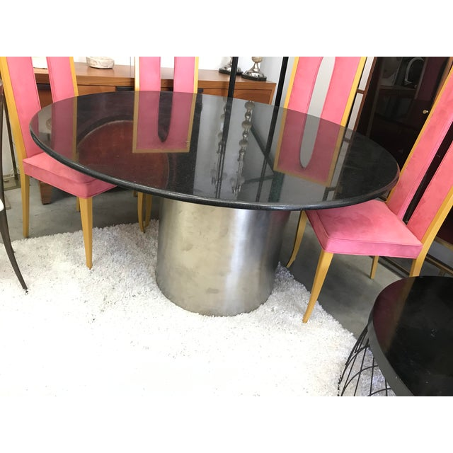 Metal 1970s Italian Brueton Dining Table For Sale - Image 7 of 7