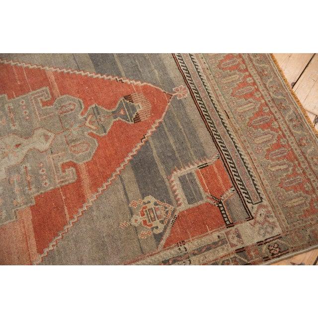 "Vintage Distressed Oushak Rug Runner - 3'9"" X 7'11"" For Sale - Image 10 of 11"