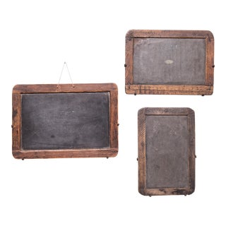 Set of Three Vintage Chinese School House Slate Boards For Sale