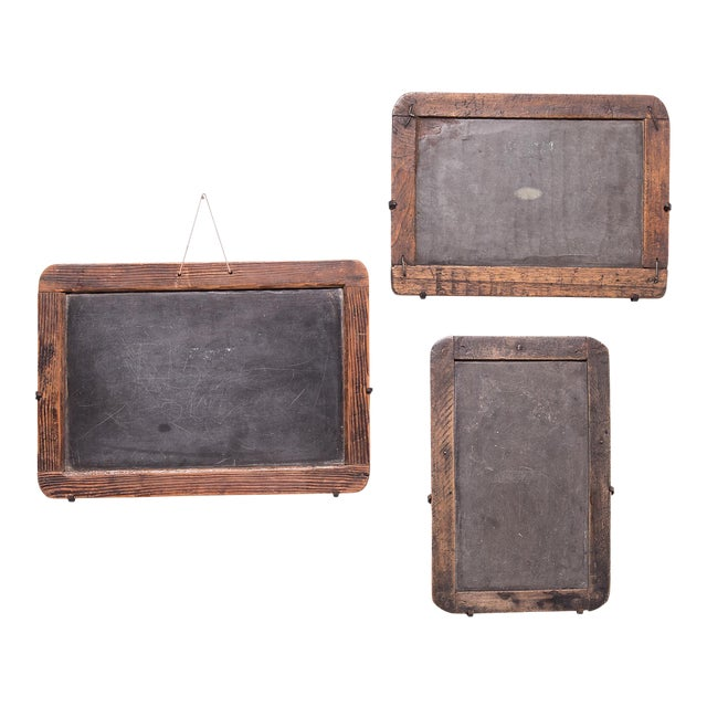 Vintage Chinese School House Slate Boards - Set of 3 For Sale