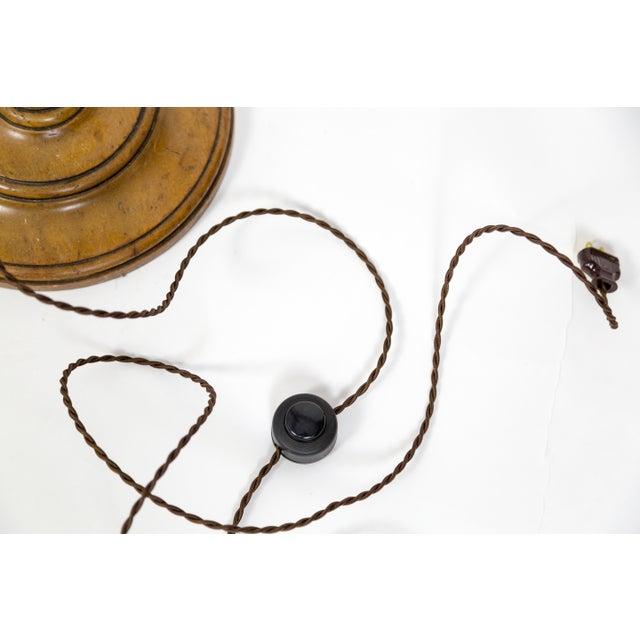 Brown Adjustable Mahogany Ratchet Floor Lamp by Frances Elkins For Sale - Image 8 of 9