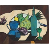 Image of Mid-Century Modern Still Life Painting For Sale