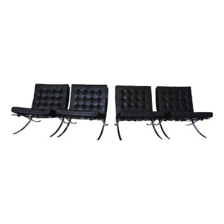 Black Barcelona Chairs - Set of 4