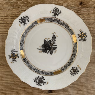 """Herend Black Chinese Bouquet 6"""" Plate Preview"""