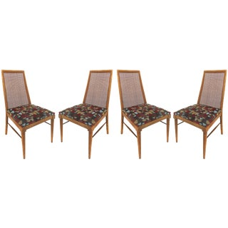 Foster-McDavid Mid-Century Modern Dining Chairs With Caned Backs - Set of 4 For Sale