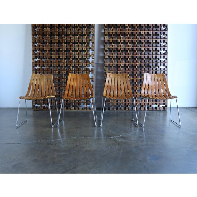 Mid-Century Modern 1960s Hans Brattrud Scandia for Hove Mobler Dining Chairs - Set of 4 For Sale - Image 3 of 12