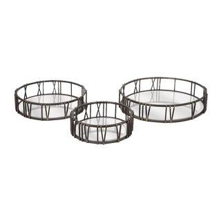 Roman Time Mirror Trays - Set of 3