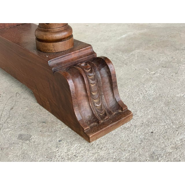 18th Spanish Bargueno of Columns With Foot Bridge, Cabinet on Stand For Sale - Image 12 of 13