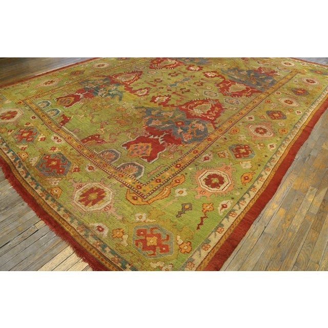 """Antique Oushak Rug 10'8"""" X 14'6"""" For Sale - Image 4 of 6"""