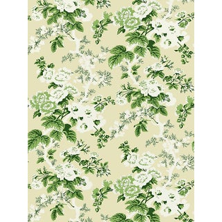 Scalamandre Ascot Floral Print, Verdure Wallpaper For Sale