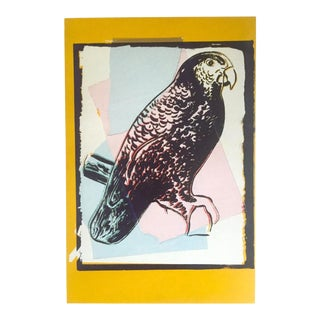 "Andy Warhol Estate Rare Vintage 1991 Collector's Lithograph Print "" Puerto Rican Parrot - Vanishing Animals "" 1986 For Sale"