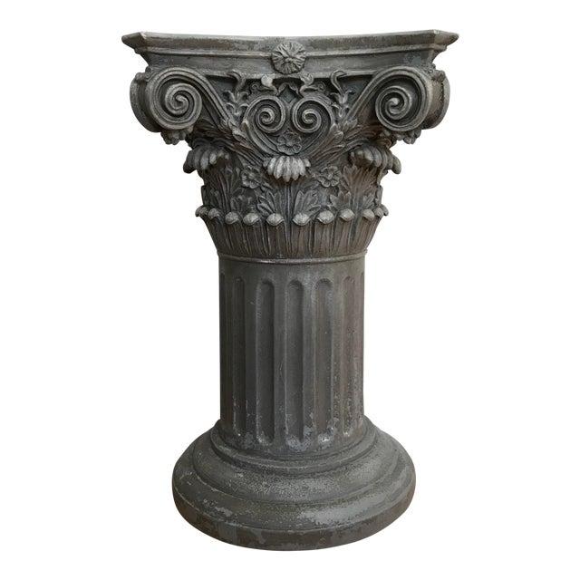 Vintage Universal Statuary Neoclassical Resin Column Pedestal For Sale