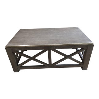 Nautical Lillian August Burleigh Slim Gray Wood Cocktail Table