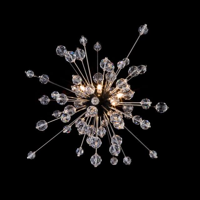 """Metropolitan Mini-Sputnik"" crystal pendant light designed by Hans Harald Rath for the Metropolitan Opera House in New..."