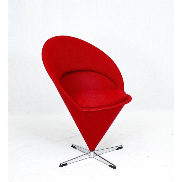 "Verner Panton Verner Panton ""Cone"" Chair For Sale - Image 4 of 10"
