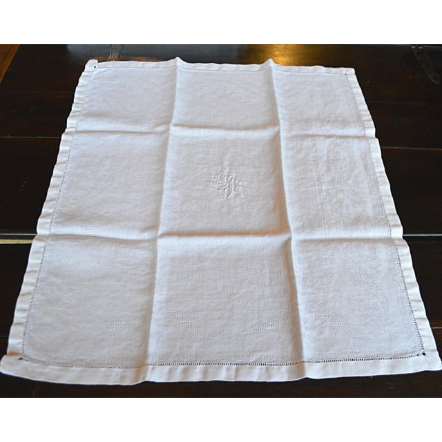 Monogrammed Antique French Table Linens - Set of 7 - Image 5 of 7