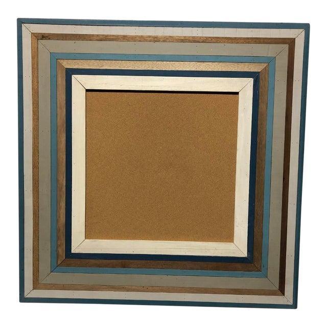 Custom Made Framed Cork Board For Sale