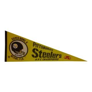 Vintage NFL Pittsburgh Steelers Team Pennant