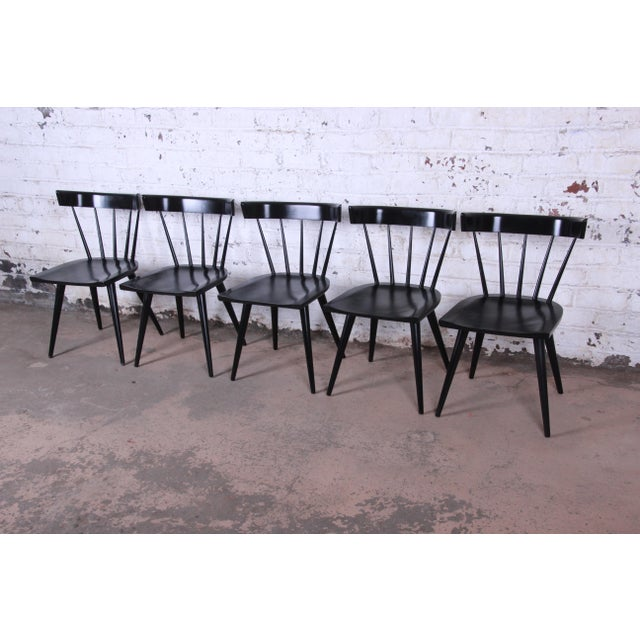 1950s Paul McCobb Ebonized Planner Group Dining Chairs - Set of 10 For Sale - Image 5 of 13