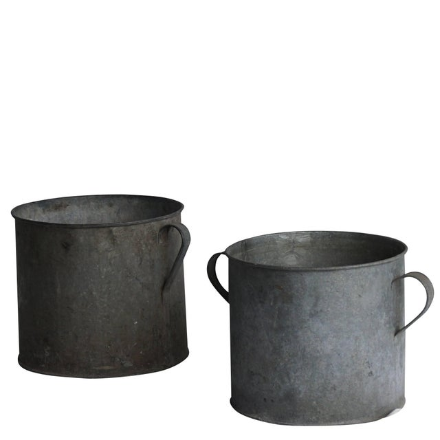 Mid-20th Century Vintage French Pots - a Pair For Sale - Image 4 of 5