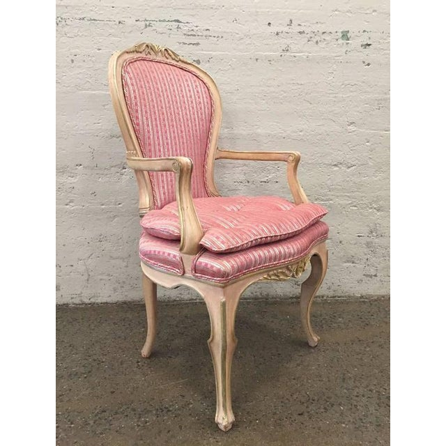 1950s Set of Eight Louis XVI Style Painted Dining Chairs For Sale - Image 5 of 8