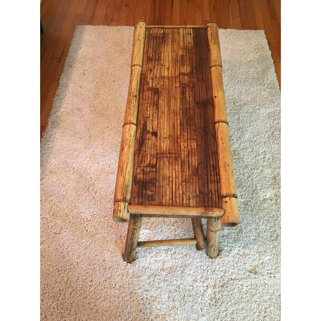 Vintage Bamboo Low Coffee Table - Image 2 of 5