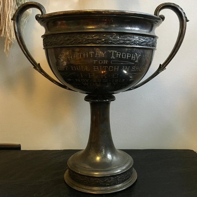 Early 1900's Oversized Dog Show Loving Cup For Sale - Image 10 of 10