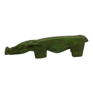 Long and Low Pig Wild Boar Sculpture For Sale