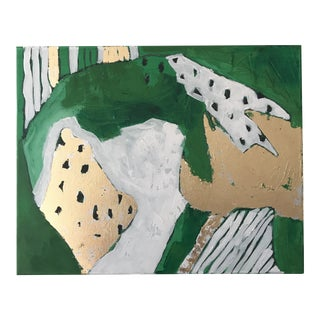 """Abstract """"Emerald City, 2"""" Original Painting by Alice Miles For Sale"""