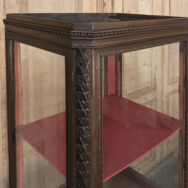 Wood 19th Century French Louis X Collector's Vitrine For Sale - Image 7 of 13