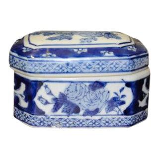Blue & White Trinket Box