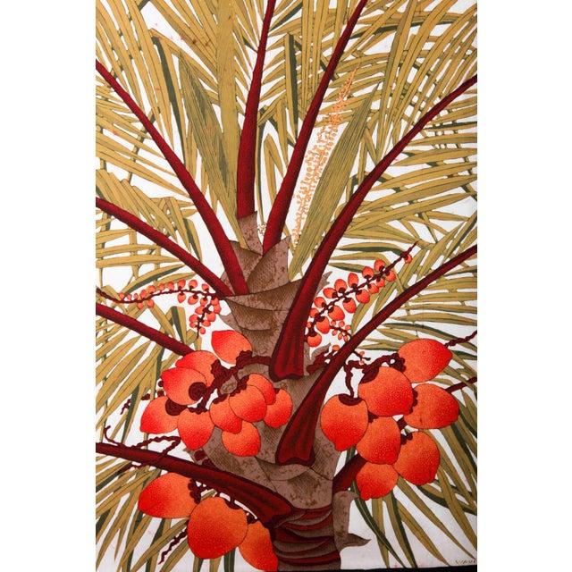 """Orange Vipula Dharmawardena (Sri Lankan) """"King Coconut"""" Batik For Sale - Image 8 of 10"""