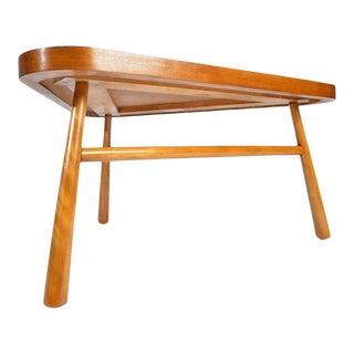 t.h. Robsjohn-Gibbings for Widdicomb Triangular Cocktail Table For Sale