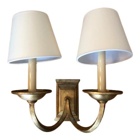 Visual Comfort Flemish Double Sconce in Gilded Iron For Sale