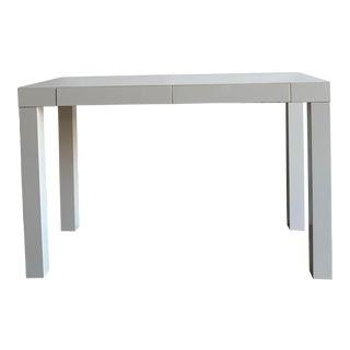 West Elm Minimal Writing Desk For Sale