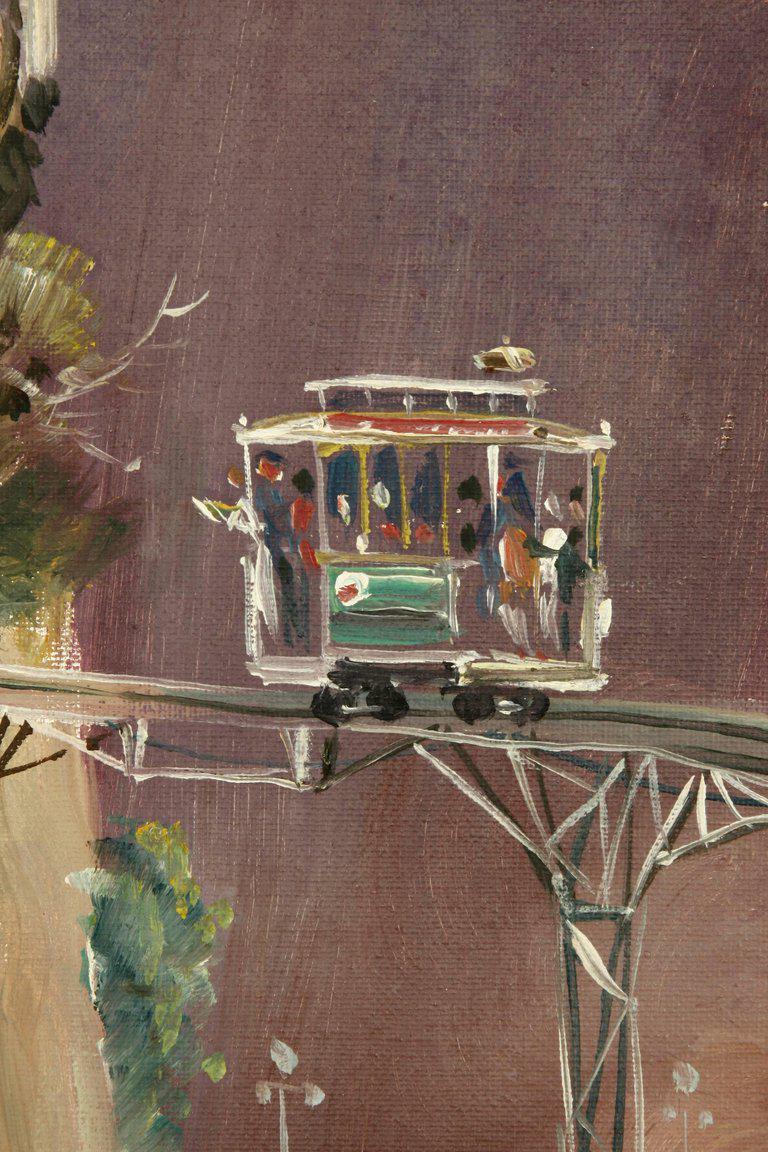 Albert Tolf San Francisco Surrealist Painting   Image 2 Of 11