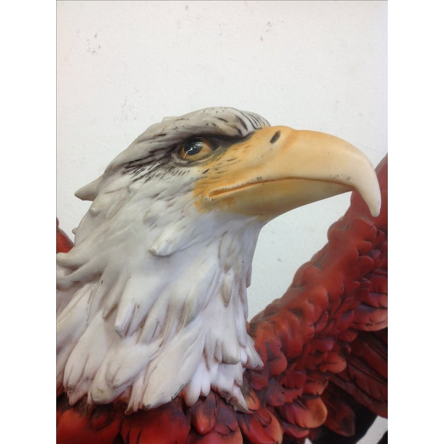 Brown DeCapoli Collection Bald Eagle Sculpture For Sale - Image 8 of 9