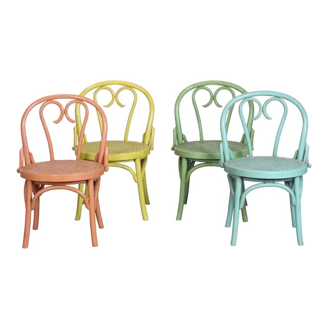 Image of 1940s Vintage Bistro Chairs- Set of 4