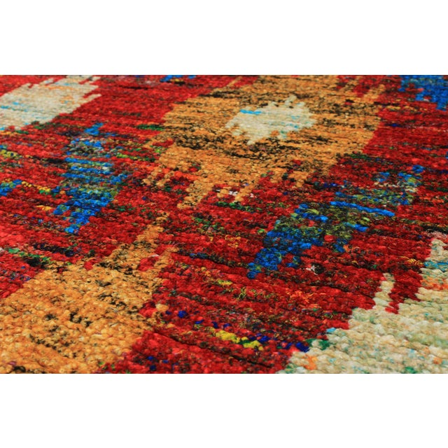 "Hand-Knotted Sari Silk Indian Rug - 5'4"" X 7'10"" - Image 2 of 2"