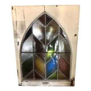 Antique Stained Glass Chapel Window For Sale